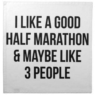 Half Marathon & 3 People Napkin
