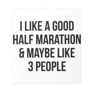 Half Marathon & 3 People Notepad