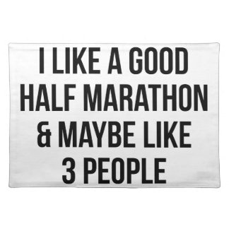 Half Marathon & 3 People Placemat