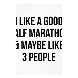 Half Marathon & 3 People Stationery