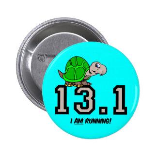 Half marathon 6 cm round badge