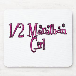 Half Marathon Girl Mouse Pad