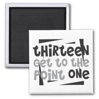 Half-Marathoner 13.1 thirteen get to the point one Square Magnet