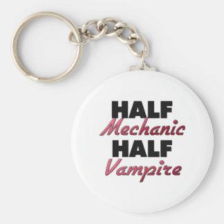 Half Mechanic Half Vampire Keychains