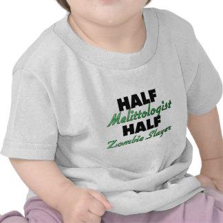 Half Melittologist Half Zombie Slayer Tee Shirt