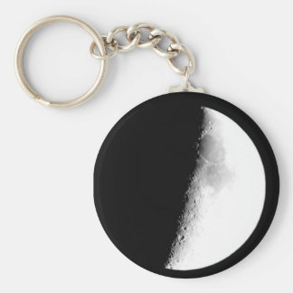 Half Moon Basic Round Button Key Ring