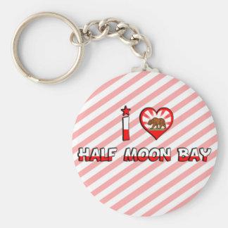 Half Moon Bay, CA Basic Round Button Key Ring