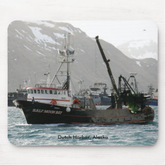 Half Moon Bay, Fishing Trawler in Dutch Harbor Mouse Pad