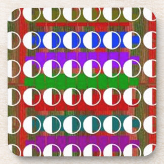 HALF MOON Beautiful Pattern Beverage Coasters