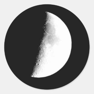 Half Moon Round Sticker