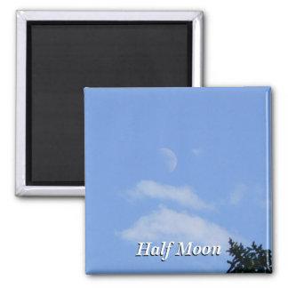 Half Moon Square Magnet