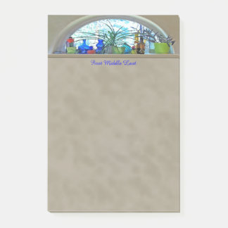 Half Moon Window Watercolor Digital Artwork Post-it Notes