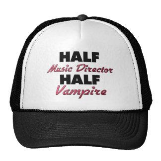 Half Music Director Half Vampire Trucker Hats