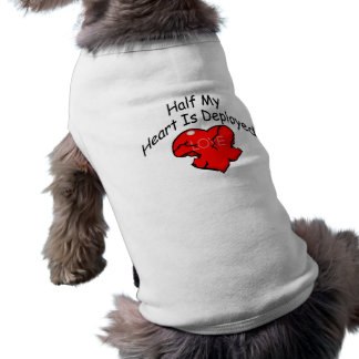 Half My Heart Is Deployed (Heart) Sleeveless Dog Shirt