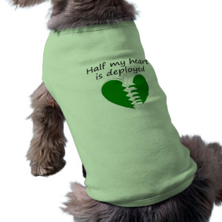 Half My Heart Is Deployed Sleeveless Dog Shirt
