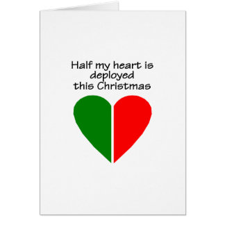 Half My Heart Is Deployed This Christmas Card