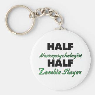 Half Neuropsychologist Half Zombie Slayer Basic Round Button Key Ring