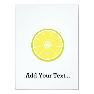 half of a lime 17 cm x 22 cm invitation card