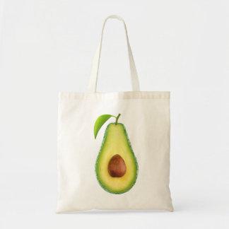 Half of avocado budget tote bag