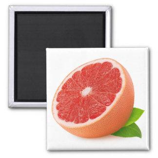 Half of grapefruit square magnet