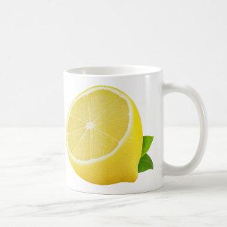 Half of lemon basic white mug
