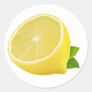 Half of lemon round sticker