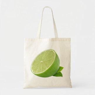 Half of lime budget tote bag