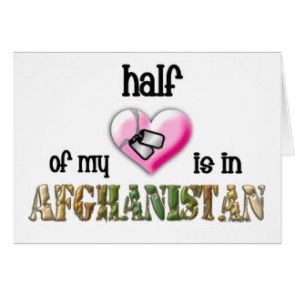half of my heart...afghanistan 2 card