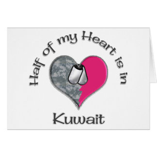 Half of my heart Kuwait Card