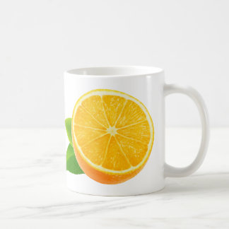 Half of orange fruit coffee mug