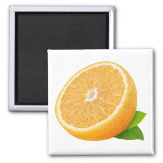 Half of orange fruit square magnet