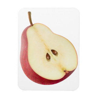 Half of pear rectangular photo magnet