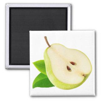 Half of pear square magnet