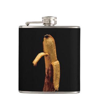 Half Peeled Banana Still Life Hip Flask