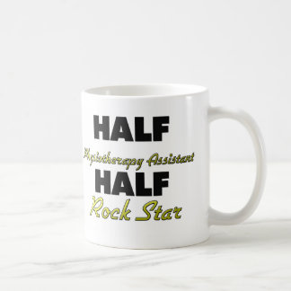Half Physiotherapy Assistant Half Rock Star Basic White Mug