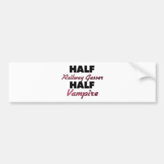 Half Railway Gasser Half Vampire Bumper Stickers
