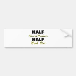 Half Record Producer Half Rock Star Bumper Sticker