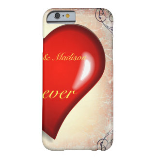 Half red heart lover2 barely there iPhone 6 case