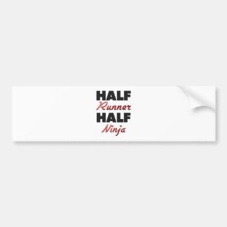 Half Runner Half Ninja Bumper Sticker