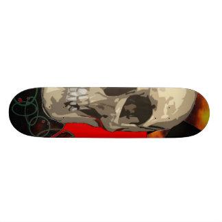Half Skull Custom Skate Board