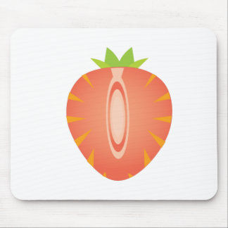 half strawberry mouse pad