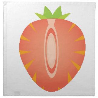 half strawberry napkin
