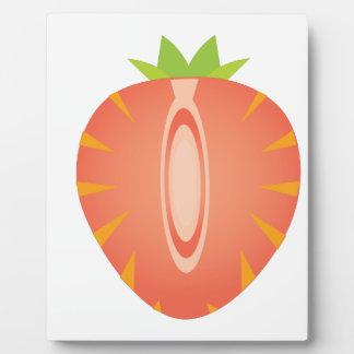 half strawberry plaque