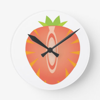 half strawberry round clock
