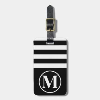 Half Stripe Monogrammed Luggage Tag