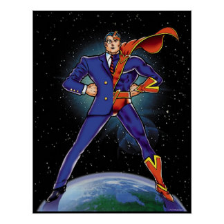 Half Super-Hero Print
