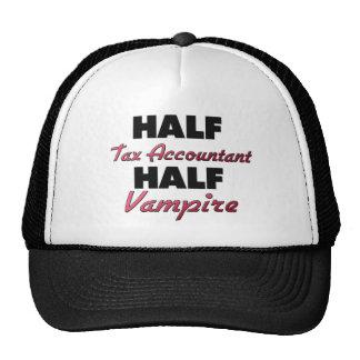 Half Tax Accountant Half Vampire Mesh Hats
