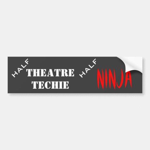 Half techie, half ninja bumper stickers