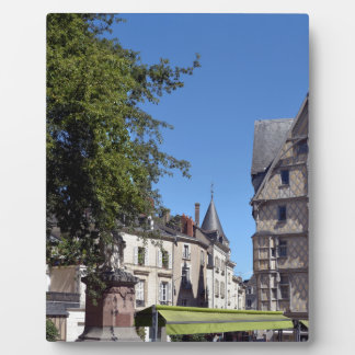 Half-timbered house in Angers Plaque