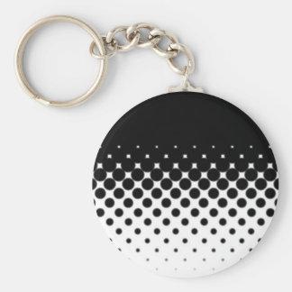 Half Tone Basic Round Button Key Ring